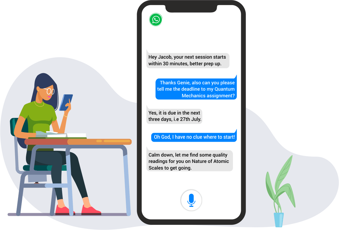 genie's voicebot platform for learning